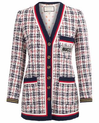 Leichte Jacke aus Tweed Gucci Patch GUCCI