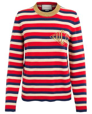 Striped cotton jumper GUCCI
