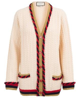 Long wool and cashmere cardigan GUCCI