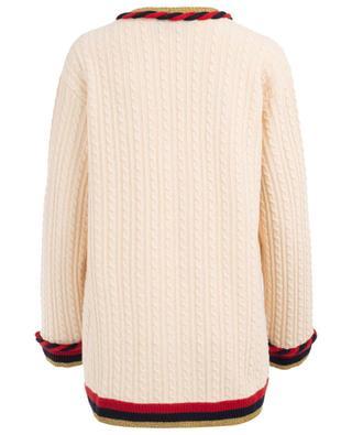 Cardigan long en laine et cachemire GUCCI