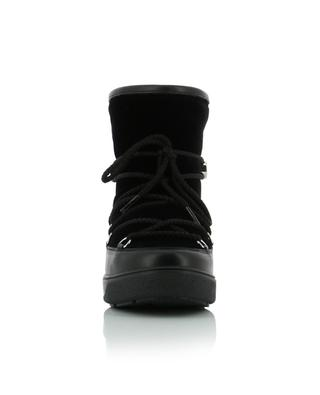 Stephanie velvet and leather ankle boots MONCLER
