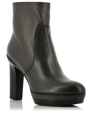 High heeled leather ankle boots SANTONI