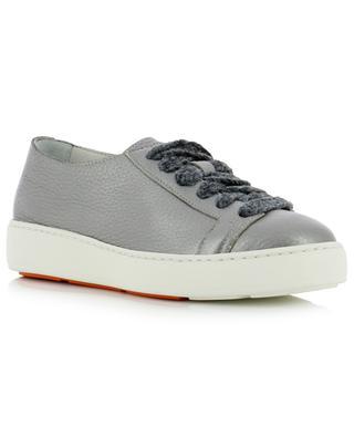 Sneakers aus genarbtem Metallicleder SANTONI