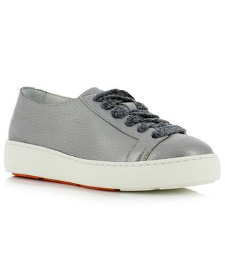 Grained metallic leather sneakers SANTONI