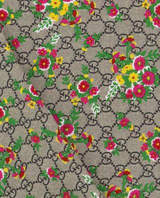 Foulard fleuri en soie GG GUCCI