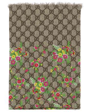 Halstuch aus Modal und Seide mit Blütenprint GG GUCCI