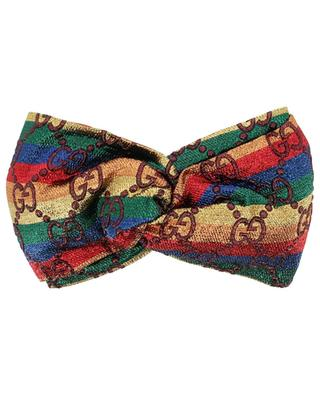Stirnband aus Lurex Regenbogen GG GUCCI