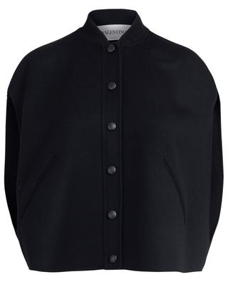 Virgin wool and cashmere short cape VALENTINO