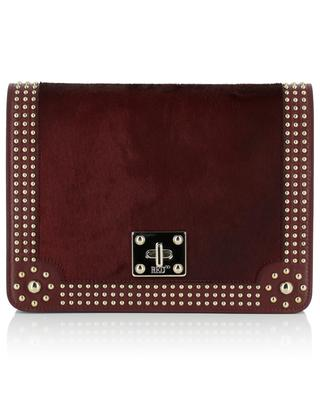 Leather and calf hair shoulder bag RED VALENTINO