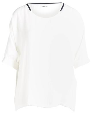 Breezy short-sleeved crepe top MARC CAIN