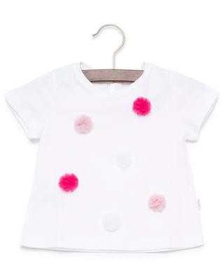 Pompons embellished cotton T-shirt IL GUFO