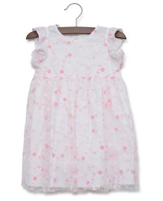 Cotton and embroidered tulle dress IL GUFO