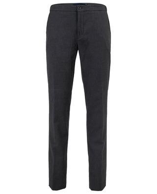 Slim-fit cotton blend trousers INCOTEX