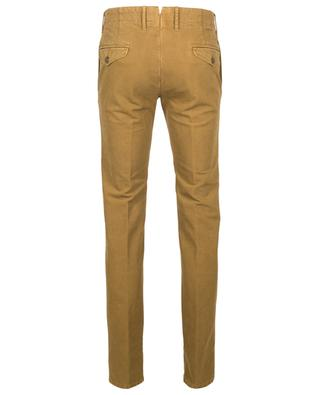 Cotton-blend slim-fit pleated trousers INCOTEX