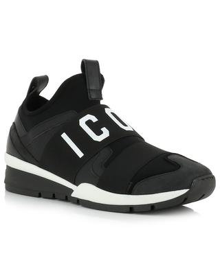Runner Icon neoprene and leather sneakers DSQUARED2