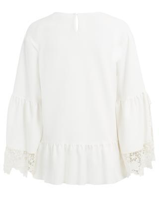 Bluse aus Crêpe mit Spitze SEE BY CHLOE