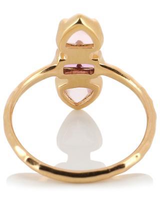 Garnet Rose gold plated silver ring AVINAS