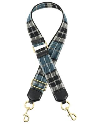 Tartan Webbing fabric and leather shoulder strap MARC JACOBS