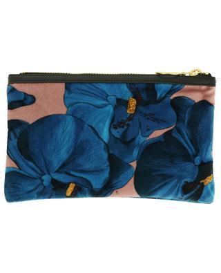 Flache Tasche aus Samt Orchidée WOOUF