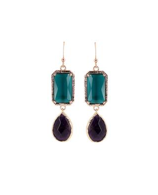 Earrings with stones MOON C° PARIS