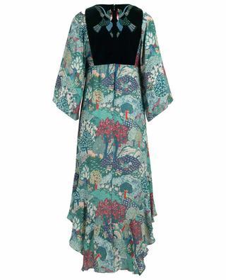 Kleid aus bedruckter Seide Melita VILSHENKO