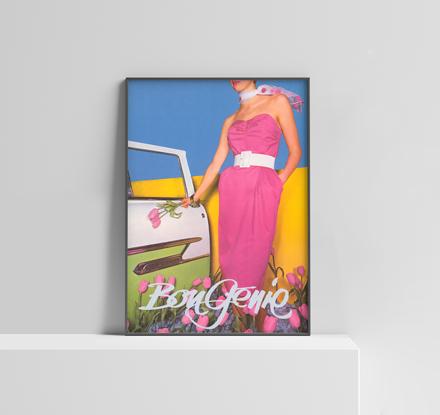 Christian Coigny Femme en Rose poster